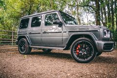 Photo of Mercedes-Benz G-Class Parked on Dirt Road stock photo