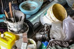 Photo of mess in the house while repairing royalty free stock images