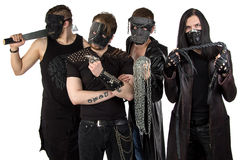 Photo of the metal band with chain Stock Photos
