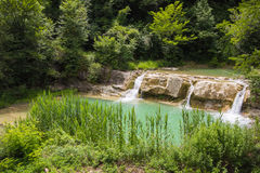 Photo of Metauro waterfall in the marche region Royalty Free Stock Images