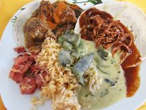 Mexican Food Buffet Assortment royalty free stock photography