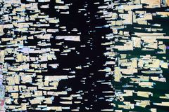 Colorful micro crystals in polarized light. Photo through a microscope of crystals growing from the melt of sulfur. Polarized light technology vector illustration