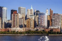 Midtown Manhattan from Hudson River Stock Photos