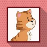 Photo mignonne de cadre de tigre illustration de vecteur