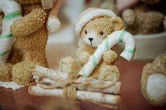 Photo mignonne de figurines de jouet d'ours Image libre de droits