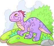 Photo mignonne de velociraptor drôle Photo stock