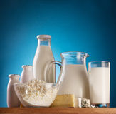 Photo of milk products. Royalty Free Stock Image
