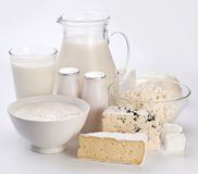 Photo of milk products. Stock Images
