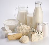 Photo of milk products. Royalty Free Stock Photo