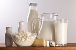 Photo of milk products. Stock Image