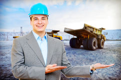 Photo of a mining engineer Stock Photo