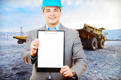 Photo of a mining engineer Royalty Free Stock Photos