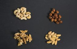 Some mixed nuts. A photo of mixed nuts royalty free stock photos