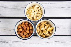 Some mixed nuts Stock Photos