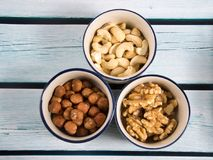 Some mixed nuts. A photo of mixed nuts stock photos