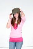 Photo Model. Pretty caucasian teen girl model posing Stock Photo
