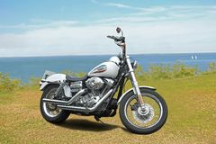 Harley davidson chopper bike Royalty Free Stock Images