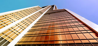 Photo of a modern bright tower of a skyscraper Royalty Free Stock Image