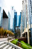 Modern buildings of La Défense in Paris. stock photos