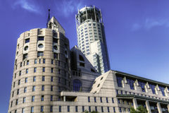 Photo of modern high-rise building Royalty Free Stock Image
