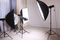 Photo moderne intérieure de studio Images stock