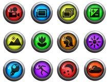 Photo modes icons set Stock Images