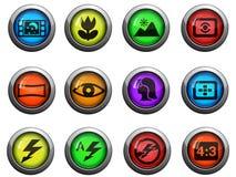 Photo modes icons set Stock Image