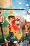 A photo of Monkey D. Luffy on action royalty free stock image