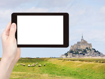 Photo of mont saint-michel abbey, France Royalty Free Stock Image