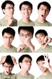 Photo montage of asian male. Photo collage of asian male Stock Photography