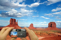 Photo Montage Monument Valley royalty free illustration
