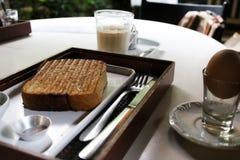 Morning breakfast in a coffee shop in Sao Paulo