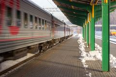 Cold morning in Kaunas train station Stock Images