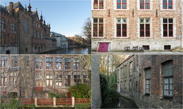 Photo mosaic collage of Bruges, Belgium. Showing different buildings Royalty Free Stock Image