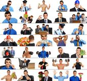 Photo mosaic people in work Royalty Free Stock Images