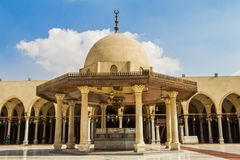 Mosque of Amr ibn al-As stock photo