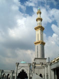 Photo of mosque's tower stock image