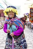 Mother and child in Peruvian costume Royalty Free Stock Image