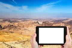 Photo of mountain landscape of Jordan near Petra Royalty Free Stock Images