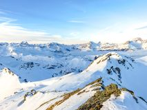 Photo of Mountains During Winter royalty free stock image