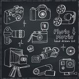 Photo and movie hobby cameras. Stock Photos
