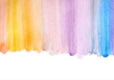 Photo of multicolor watercilir stripes  hand made Stock Image
