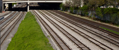 Photo of the multiple railroad ways Royalty Free Stock Images