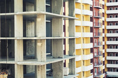 Photo of multistory building construction . Royalty Free Stock Image