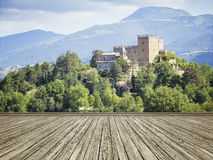 Photo mural italy castle Stock Photo