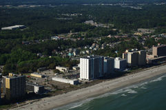 Photo of Myrtle Beach from a helicopter Stock Images