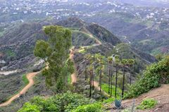 Los Angeles Nature from Mount Hollywood royalty free stock photography