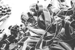 Photo negative film. Photography negative film black and white Stock Photos