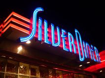 Silver Diner Neon Sign Royalty Free Stock Photos