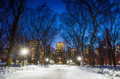 Photo of New York City buildings as viewed from Central Park Stock Photography